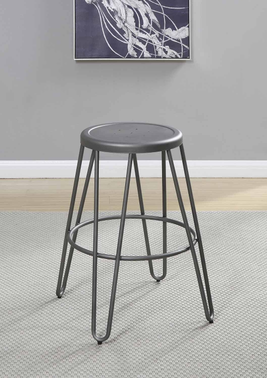 Galway Counter Height Stool - Light Gunmetal
