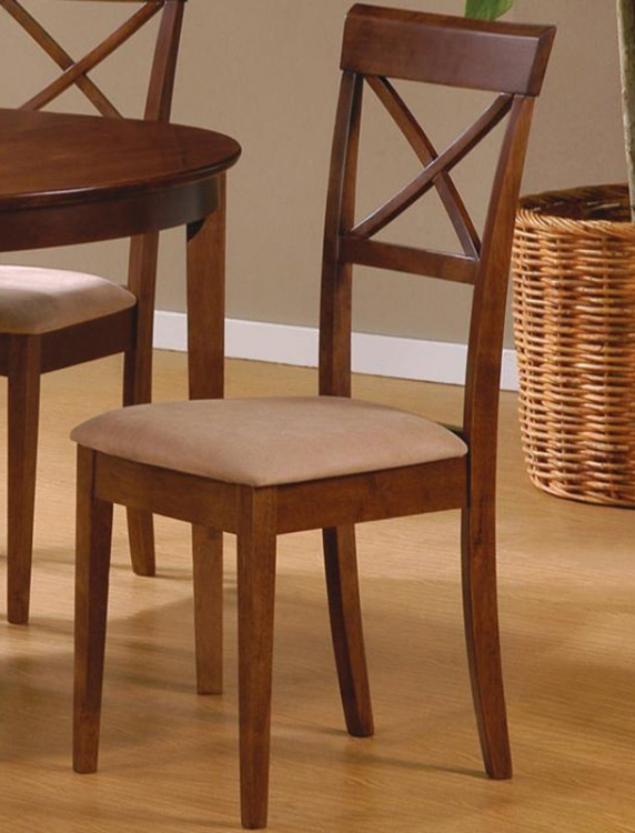 Mix and Match Cross Back Dining Chair - Walnut - Coaster