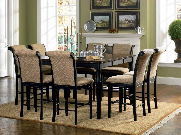 Cabrillo Counter Height Dining Set - Black-Amaretto