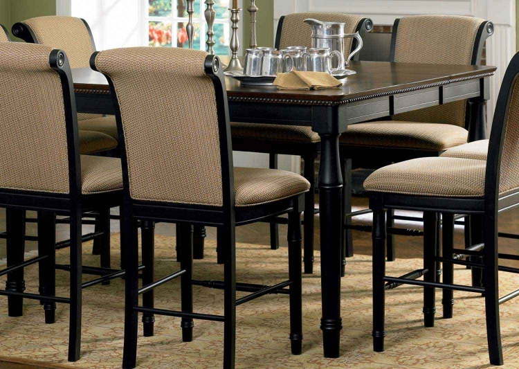 Cabrillo Counter Height Table - Black-Amaretto