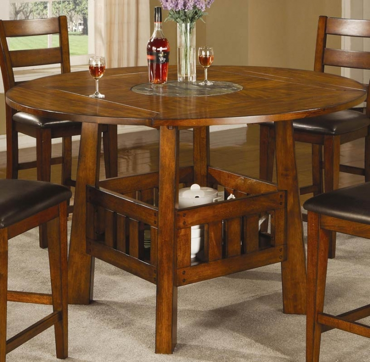 Lavista Round/Square Counter Height Table with Lazy Susan - Coaster