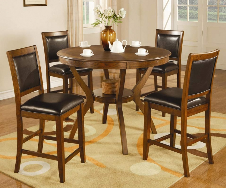 Nelms Round Counter Height Dining Set - Coaster