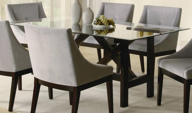 Alvarado Rectangular Glass Dining Table