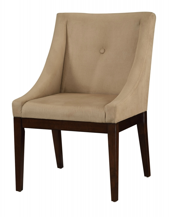 Microvelvet Accent Chair - Taupe
