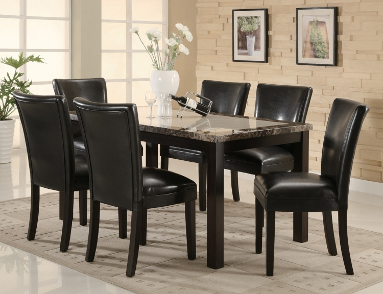 Carter 102260 Rectangular Marble Dining Set - Coaster