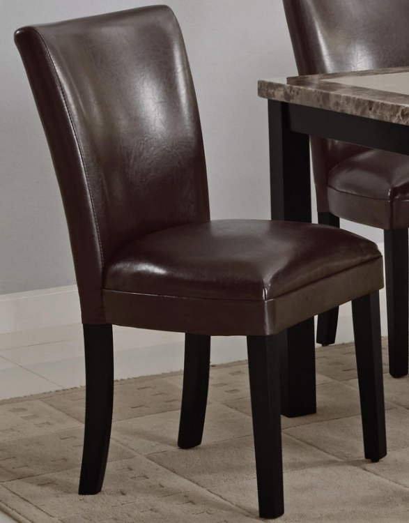 Carter Upholstered Dining Side Chair - Brown