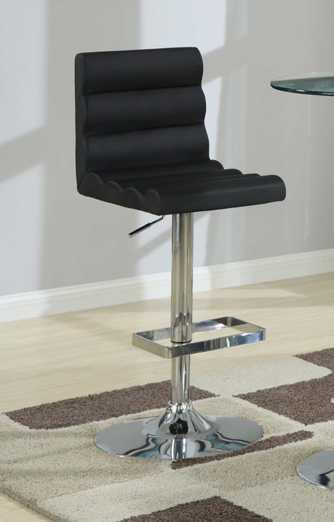 Mix & Match 29inH Adjustable Stool - Black
