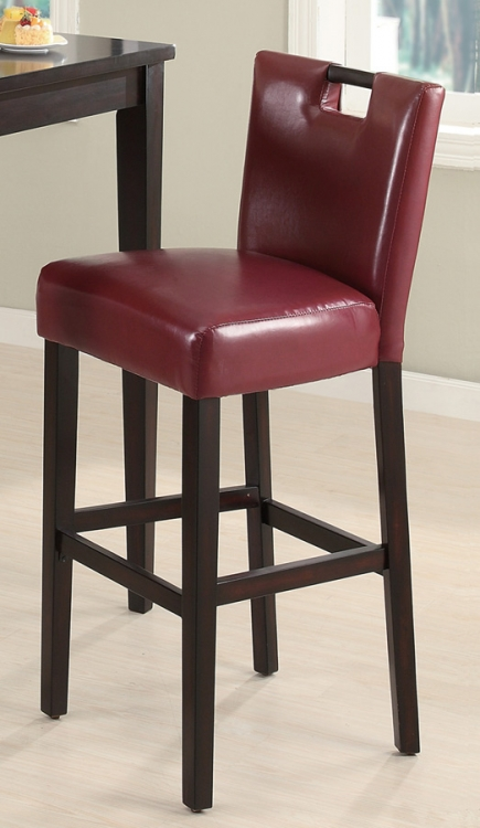 102578 Stool - Wine Red - Coaster