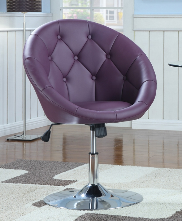 10258X Swivel Chair - Purple - Coaster