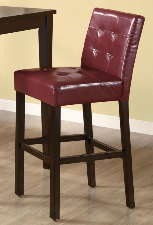 102589 Stool - Wine Red - Coaster