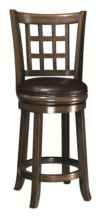 24-Inch Wooden Bar Stool - Oak