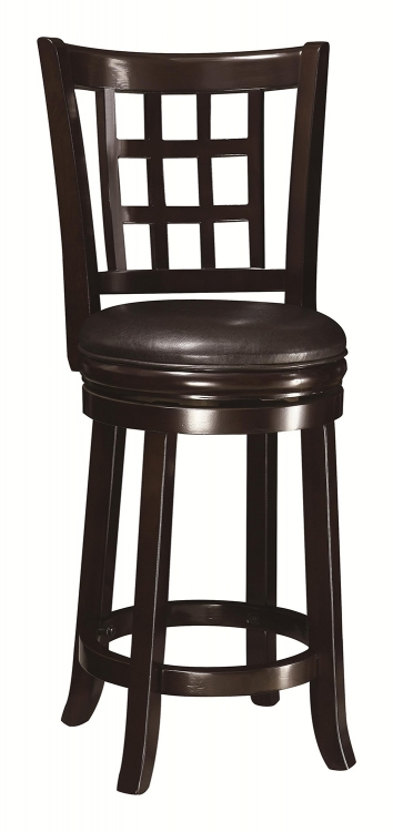 24-Inch Wooden Bar Stool - Espresso