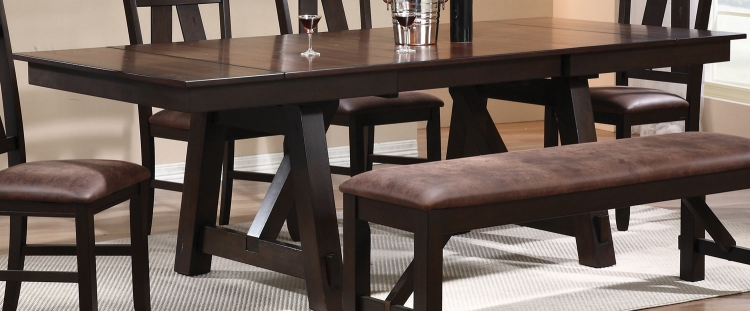 Bunker Dining Table - Rustic Brown/Black
