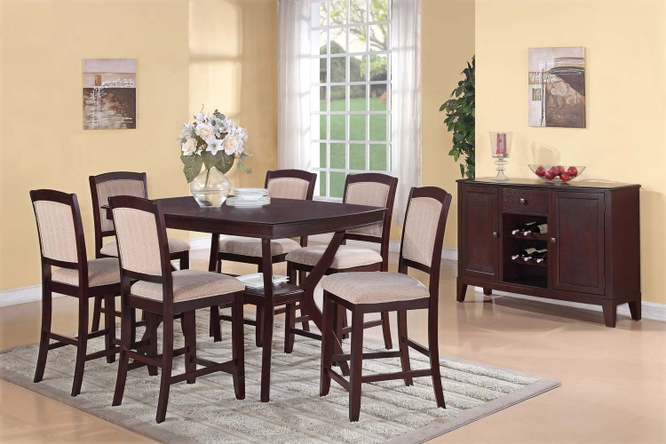 Memphis Counter Height Dining Set - Cappuccino - Coaster