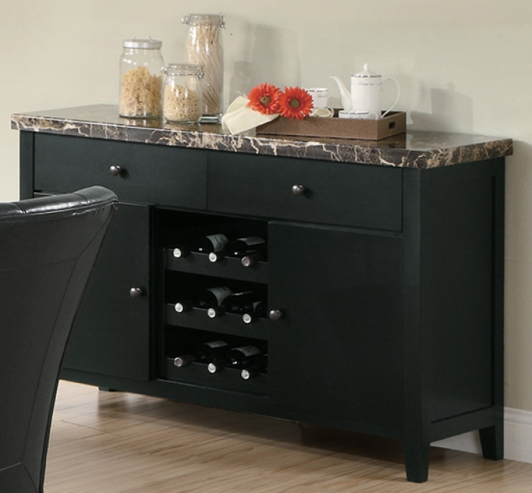 Anisa Server - Black Marble Top