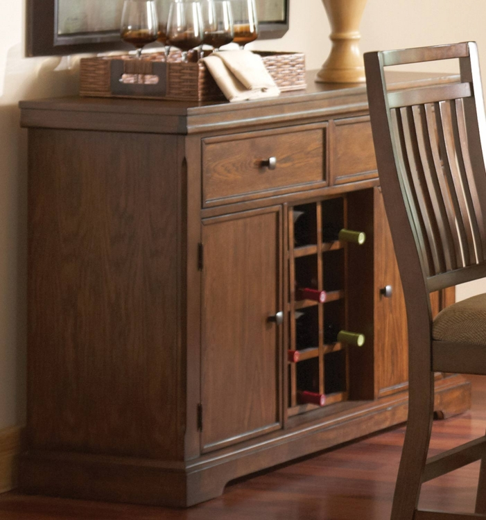 Dorris Server - Warm Oak