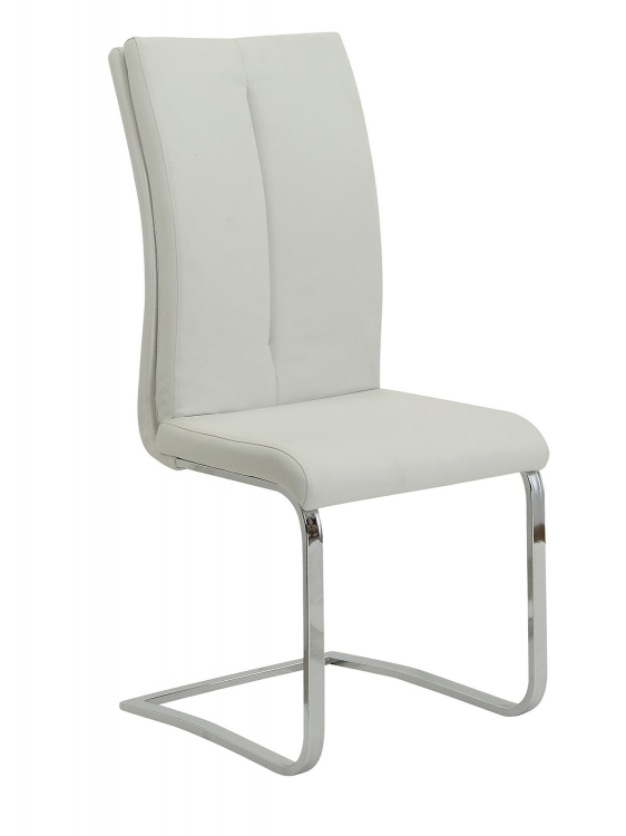 Giovanni Side Chair - White Leatherette