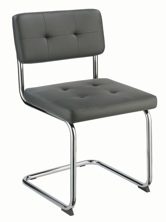 Walsh Dining Side Chair - Grey Leatherette