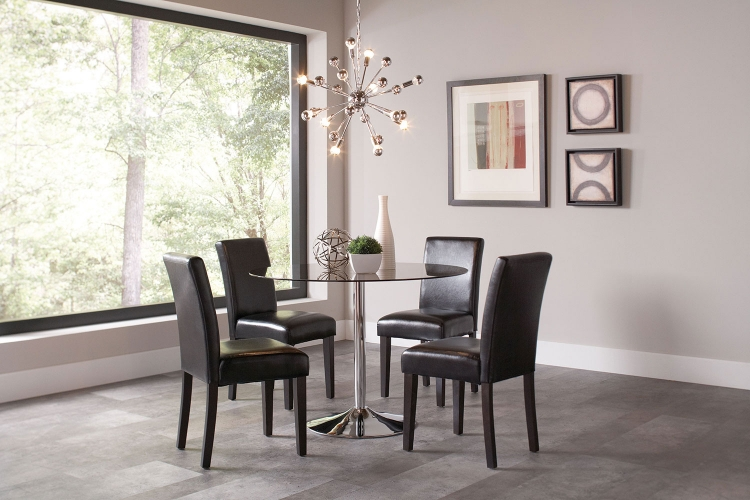Clemente Round Glass Dining Set