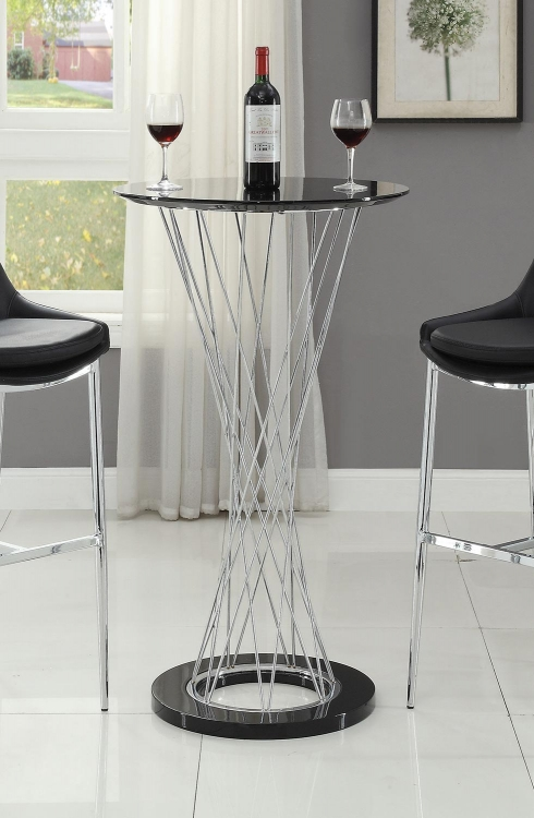 103005 Round Bar Table - Chrome