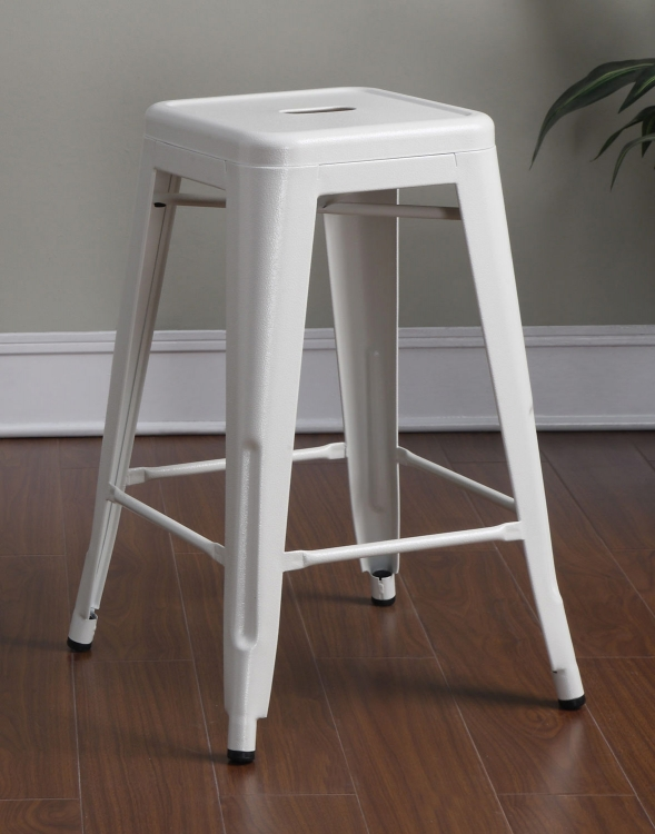 103059W Counter Stool - White
