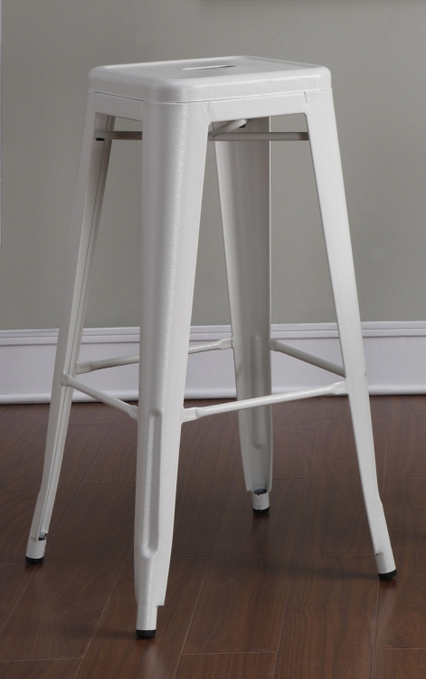 103060W Bar Stool - White