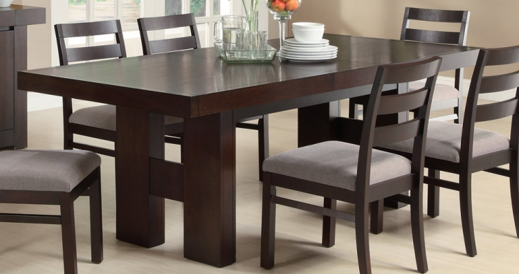 Dabny Dining Table - Cappuccino