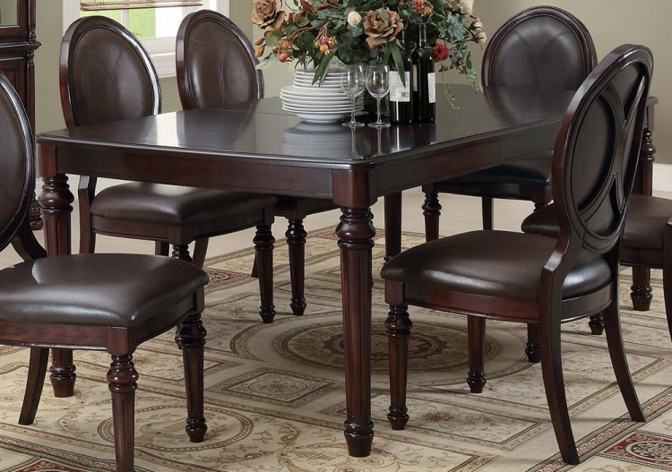 Davina Dining Table - Brown Cherry