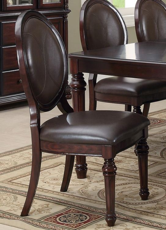 Davina Side Chair - Brown Cherry - Coaster