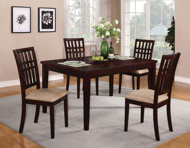 103341 Dining Set - Dark Cherry