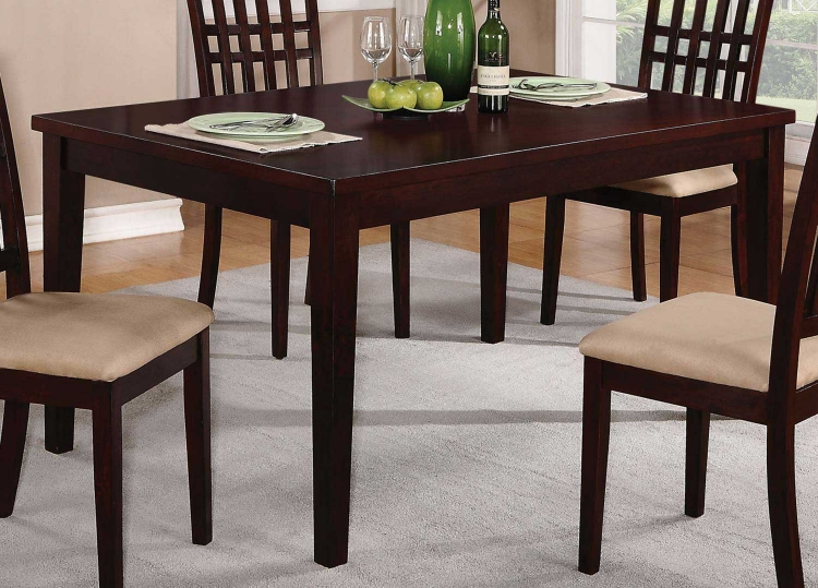 103341 Dining Table - Dark Cherry - Coaster