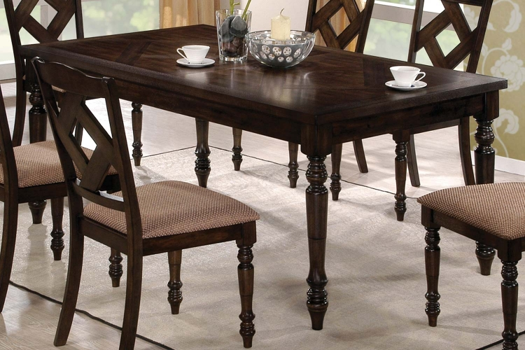 103381 Dining Table - Brown Ash