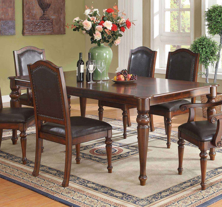 Anson Dining Table - Rich Brown - Coaster
