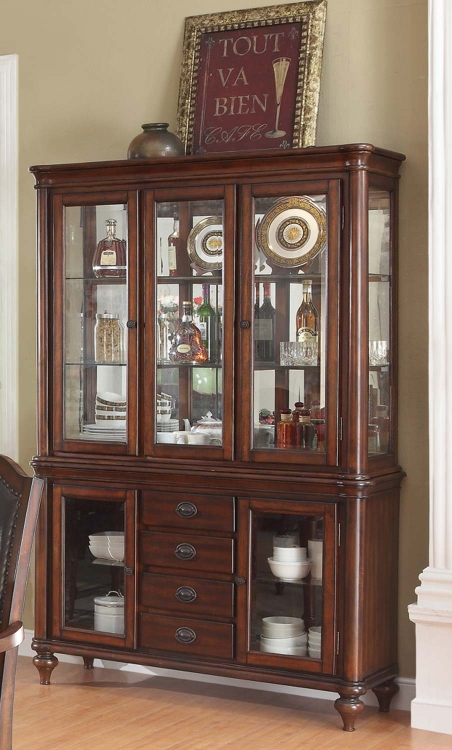 Anson China Cabinet - Rich Brown - Coaster