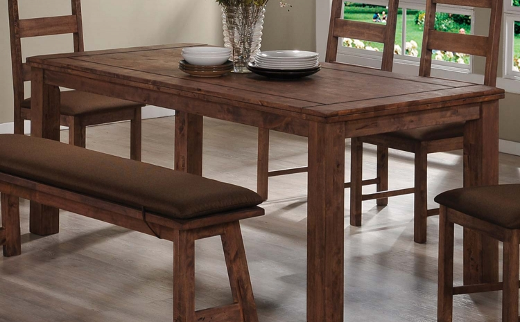 Maddox Dining Table - Rustic Brown