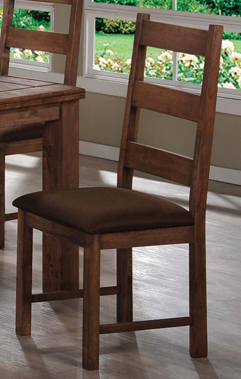 Maddox Side Chair - Rustic Brown - Coaster