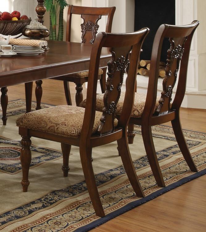 Addison Side Chair - Coffee/Pattern Fabric