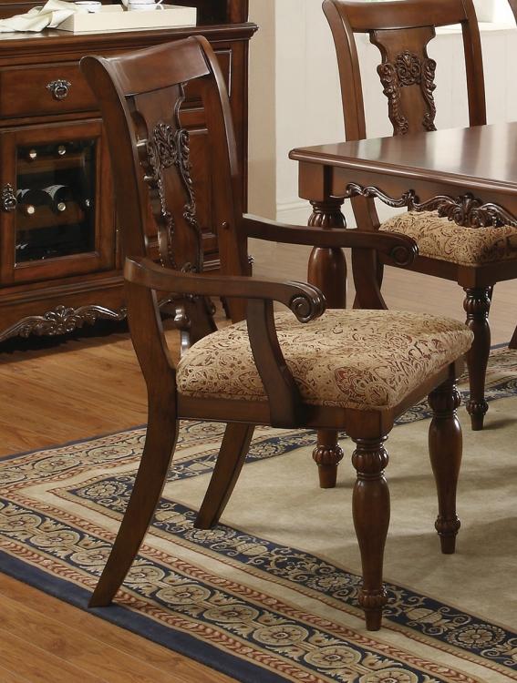 Addison Arm Chair - Coffee/Pattern Fabric