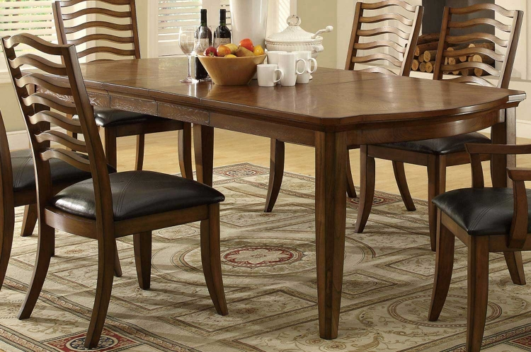 Avery Dining Table - Brown Oak