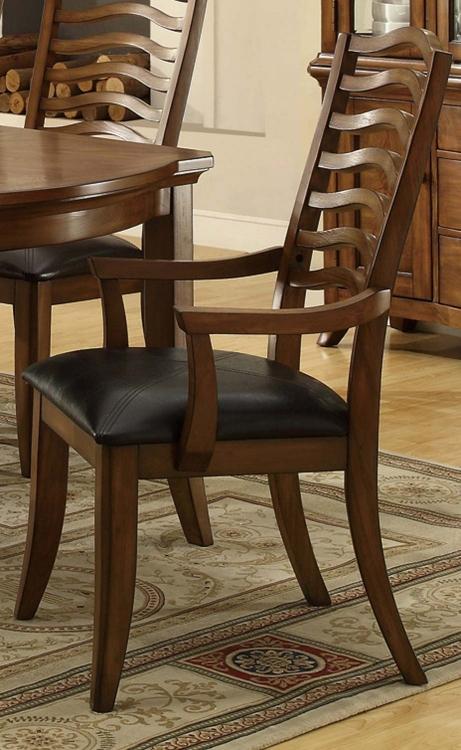 Avery Arm Chair - Brown Oak