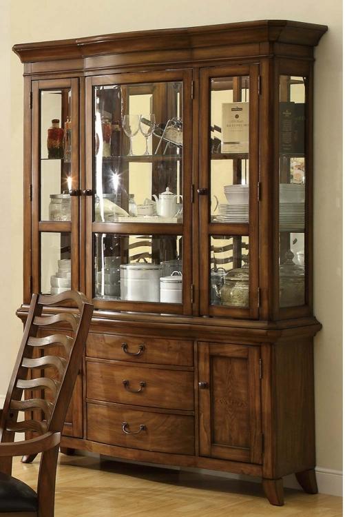 Avery China Cabinet - Brown Oak