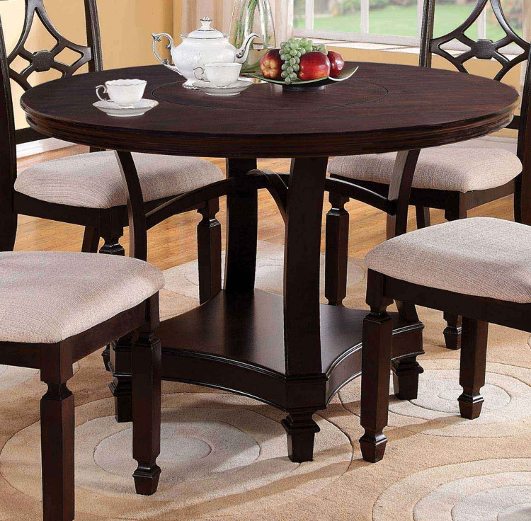 Maude Round Dining Table - Cappuccino