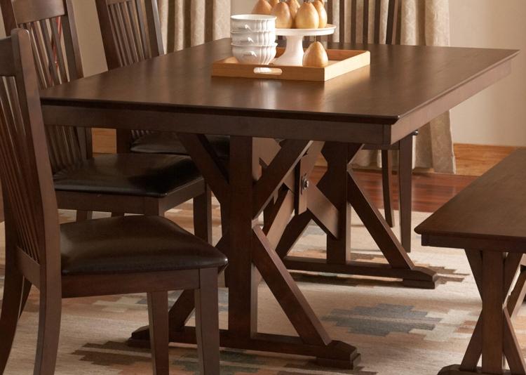 Rivera Dining Table - Dark Merlot