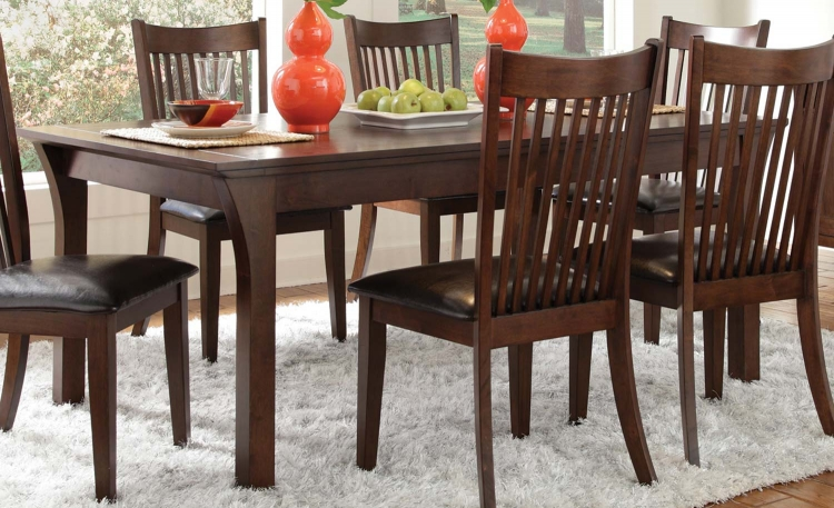Rivera Dining Table - Dark Merlot