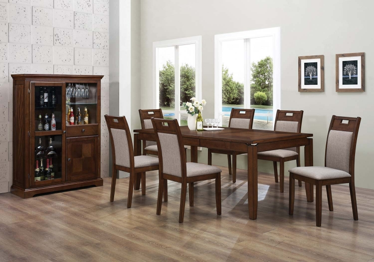 Warren Dining Set - Walnut - Coaster
