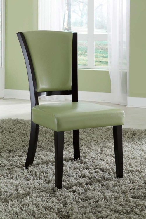 Mix & Match Side Chair - Green - Espresso
