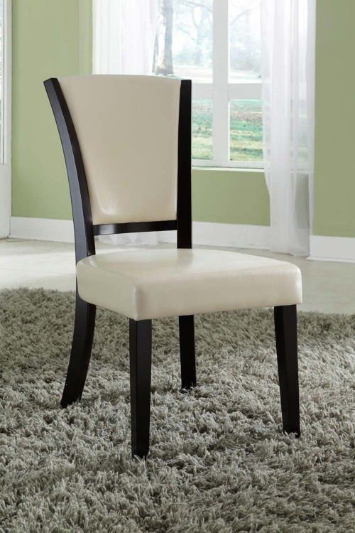 Mix & Match Side Chair - Ivory - Espresso