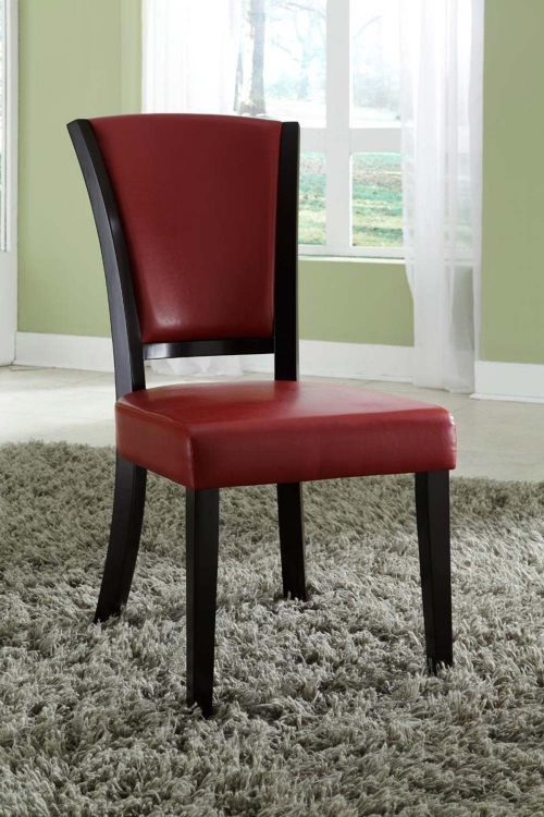 Mix & Match Side Chair - Red - Espresso