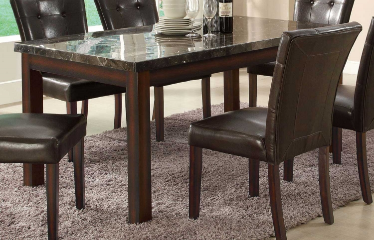 Milton Rectangular Dining Table - Dark - Cappuccino