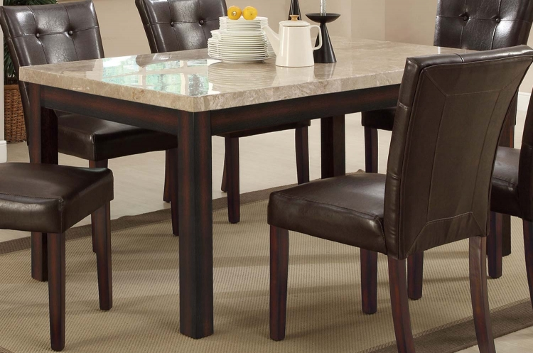 Milton Rectangular Dining Table - Light Top - Cappuccino - Coaster